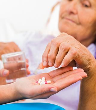 elder being medicated